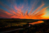 Sunset over Porcupine Mountains